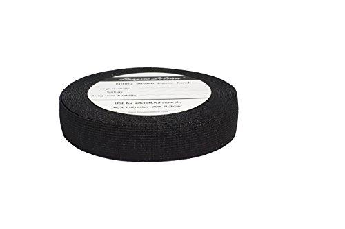 2.5CM de ancho 10 metros de largo Negro viscosa elástico que hace punto elástico de la banda carrete con alta elasticidad