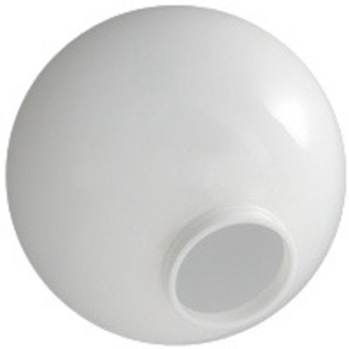 10 in. White Acrylic Globe - 4 in. Extruded Neck Opening - American PLAS-10NW