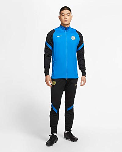 Nike INTER M NK DRY STRK TRK SUIT K, Tuta Uomo, blue spark/Black/Blue spark/(tour yellow) (no sponsor-plyr), L