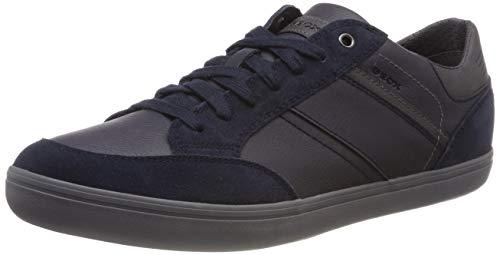 Geox Herren U Box F Sneaker, Blau (Navy/Anthracite Cf49a), 43 EU