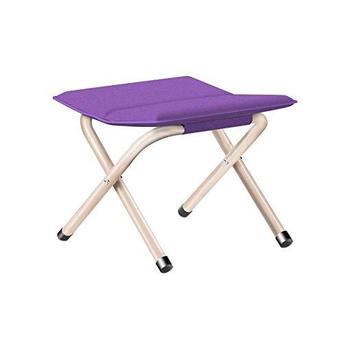 YLCJ draagbare klapstoel, campingstoel, ijzeren houder, blauw | groen | roze | lila, geschikt voor vrije tijd | camping | barbecue | vissen | strand | zelfrijdertour, 29 x 30 x 27 cm | 30 x 35 x 33 cm Large viool