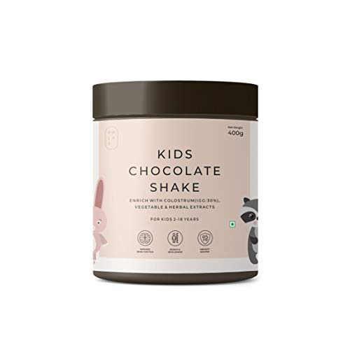 Palak Notes: Kids Chocolate Powder I Added Colostrum for Immunity I 100% Brown Sugar I Vitamins & Minerals from Vegetable, Fruits & Herbal Extracts I Kids Brain, Immunity & Health Formula: 400g