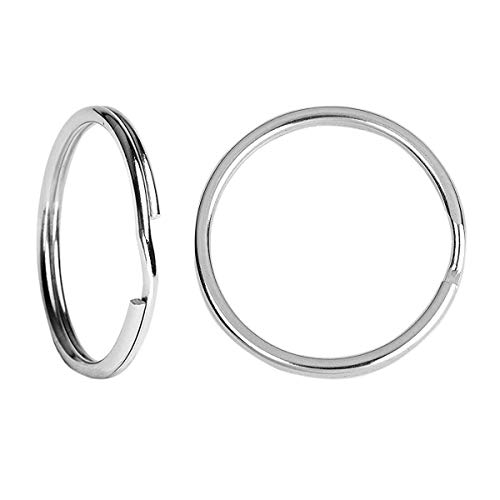 BSTHP Llaveros, 10 paquetes de anillos redondos de metal divididos para el hogar, llaves del coche, organización y fabricación de manualidades, plata de 20 mm