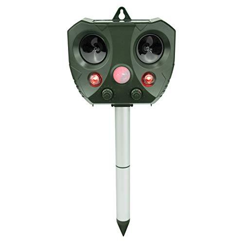 vonivi Ultrasonic Cat Repeller Solar Rechargeable Battery Operated Fox Repellent Cat Deterrent for Garden