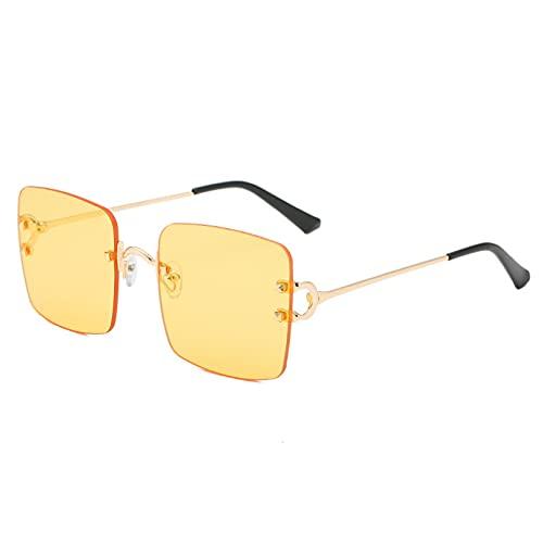 LUOXUEFEI Gafas De Sol Gafas De Sol Cuadradas Sin Montura Gafas De Sol Para Mujer Gafas De Sol Sin Marco Para HombreGafas