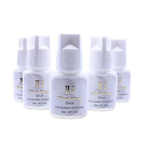 Lava Lash 100 Bottles Eyelash Extensions Ibeauty Ultra Clear Glue 5ml / Strong Transparent Bonding Adhesive/Semi-Permanent Eyelash Extension Glue / 2-4 Sec Drying Time/Keep 4-5 Weeks