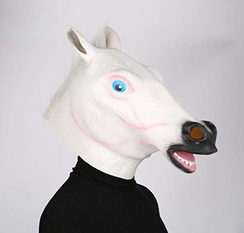 WXFC Maschera di Halloween, Parrucca Animale da Festa, Maschera Testa di Cavallo da Sposa Burlesque Festa Divertente per Adulti Divertente