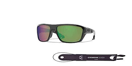 Split Shot OO9416 941605 64MM Polished Black/Prizm Shallow Water Polarized Rectangle Sunglasses for Men + FREE Complimentary Eyewear Kit