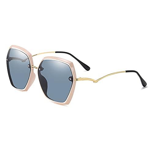 AMFG Occhiali da sole Uomo Donna polarizzata e UV. Protezione classica rettangolo elegante occhiali da sole all'aperto (Color : D)