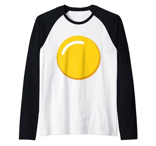 Disfraz de huevo de yema de huevo diablo Camiseta Manga Raglan