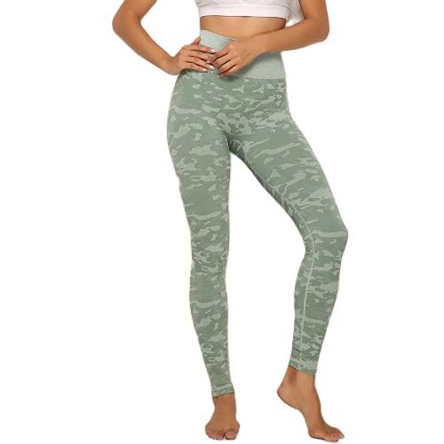 Pantalones de Yoga para Mujer Medias de Fitness de Cintura Alta Pantalones de Entrenamiento de energía sin Costuras Pantalones para Correr Pantalones de Entrenamiento Push-up C XL