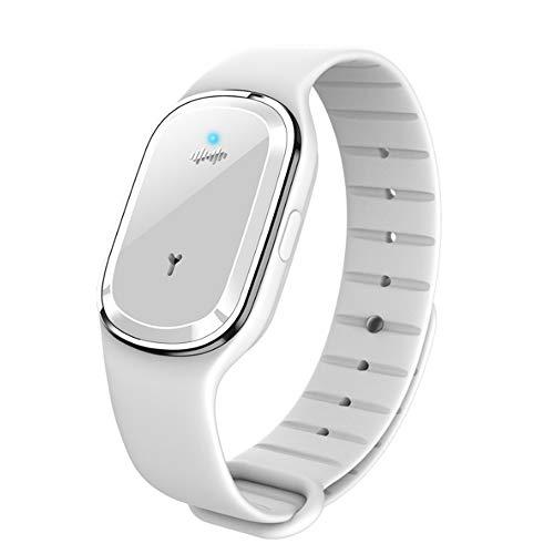 Intelligentes elektronisches Mückenschutzmittel Ultraschall-Mückenschutzarmband Armband für Erwachsene Mückenschutzmittel für Erwachsene im Freien (Weiß)