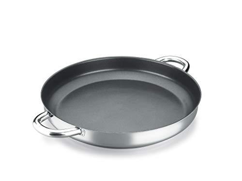 PAELLERA ALZA CLASSIC MASTER. PAELLERA fabricada en acero inoxidable 18/10, antiadherente triple capa, apta para todo tipo de cocina, INDUCCIÓN. Fácil Limpieza. Apto para lavavajillas y horno 36cm