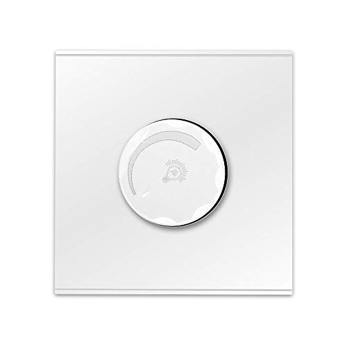 Interruptor Luz PUSH ON/OFF CON EL CONTROL ROTARIO Dimmer Interruptor de pared Blanco Negro Gris PC Panel Interruptor de ventilador 220V AV 50 / 60Hz Interruptore Inteligente