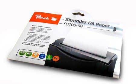 Peach PS100-00 Aktenvernichter Service Kit | 12 Ölpapiere | Aktenvernichterpflege | für hohe Schneidleistung | einfache Handhabung