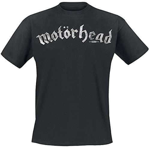 Motörhead Logo Hombre Camiseta Negro L, 100% algodón, Regular
