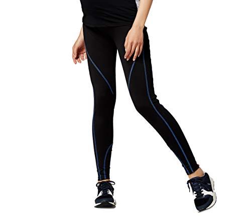 ESPRIT Maternity Umstandsmode Damen Sport-Legging Capri Legging (XL/XXL (42/44), schwarz/blue)