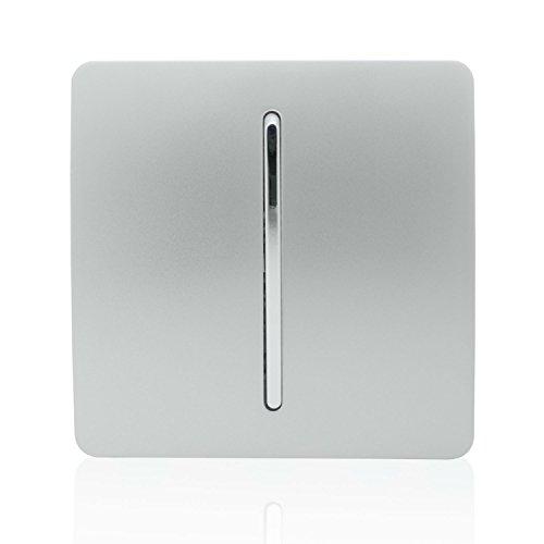 Trendi ART-SS2SI - Conmutador táctil de 1 Interruptor, 2 vías, Moderno Brillante, 10 A, Color Plateado