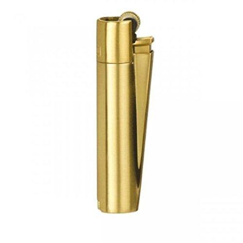 Clipper Mechero de metal pulido en oro + lata de regalo por Clipper