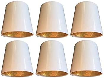 OFFicial store Upgradelights Set of 6 White NEW with Clip On Parchment Inch Gold