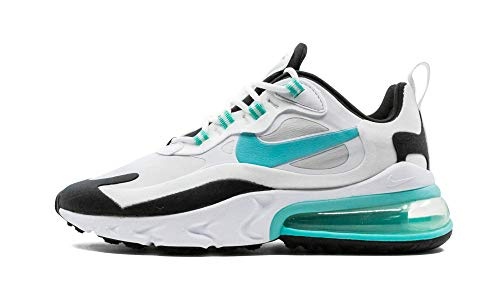 Nike Air MAX 270 React Mujeres Running Trainers Cj0619 Sneakers Zapatos (UK 7 US 9.5 EU 41, Photon Dust Green White 001)