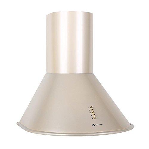 Klarstein Lumio Retro Cappa Aspirante da cucina in acciaio inox (60 cm, potenza di aspirazione pari a 430 m³/h, 3 livelli di potenza, illuminazione con due faretti alogeni) - color champagne