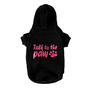 Marvvola pour Animal Domestique Vêtements, Chien Sweat à Capuche Pull à Chaud pour Femme Puppy Manteau Robes pour Chiens de Petite Taille