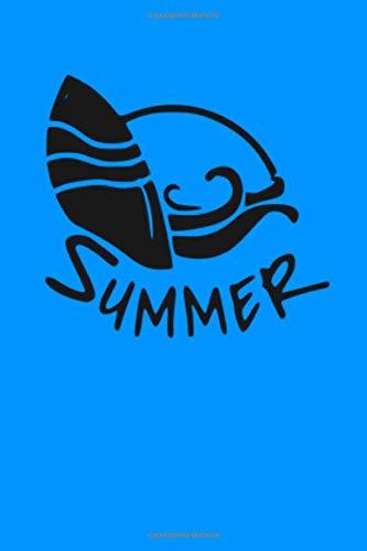 Summer: Surfing Surfen | Sonne Strand Meer | Reisetagebuch zum Ausfüllen | Notizbuch zum selber schreiben und Gestalten für den Urlaub und als ... | liniertes Papier | Soft Cover | 100 Seiten)