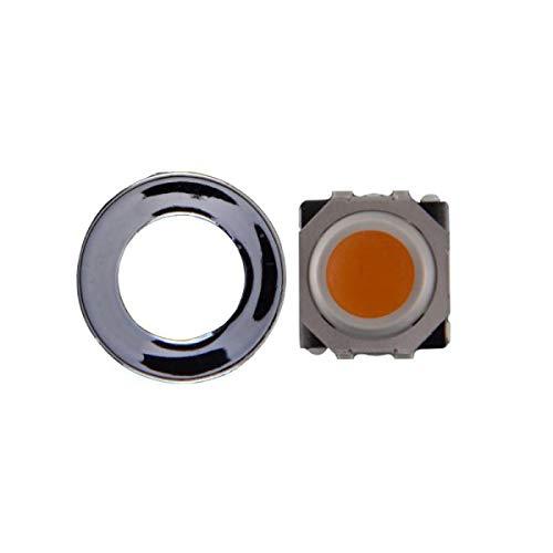 Trackball & Ring for BlackBerry Pearl, Curve, 88xx, Bold 9000, Javelin 8900, Pearl Flip (Orange) with Glue Card