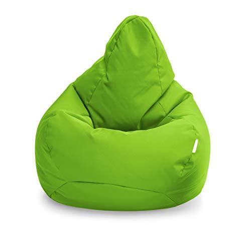 Loft 25 Puff Pera Gamer | Silla Puff Pera para Exteriores Interiores Sala | Resistente Al Agua | Limpieza Fácil | Diseño Ergonómico para Soporte del Cuerpo | Durable Y Cómoda (Lima, Puff)
