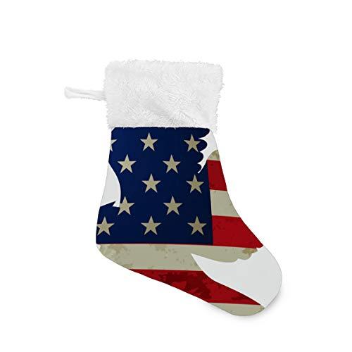 LKZNT 4 Packs - Christmas Stockings 7.87' Whitehead Eagle Cucoloris...