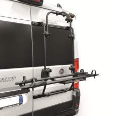 Portabicicletas trasero para furgoneta y autocaravana para Ducati Jumper y Boxer (negro)
