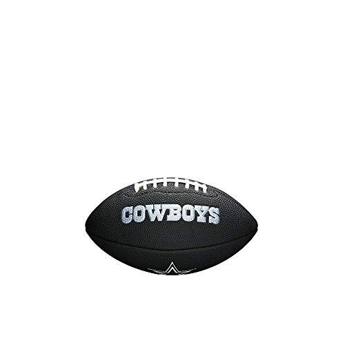 Wilson Unisex-Youth MINI NFL TEAM SOFT TOUCH FB BL DL American Football, BLACK,