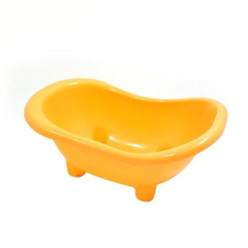 Badkuip van kunststof voor hamstermuizen van kleine ratten (geel)
