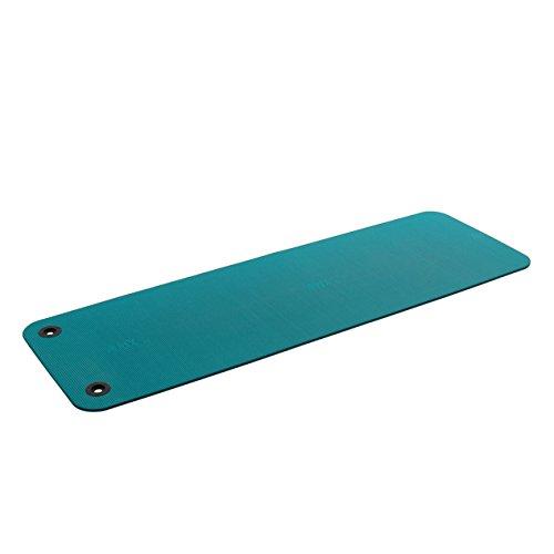Airex Fitline 180 - Esterilla con Ojales para Fitness y Yoga (180 x 58 x 1,0 cm), Color Turquesa