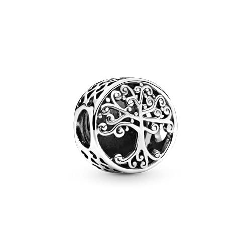 pandora 925 plata esterlina colgante de la joyería calada encantos encanto familia raíces ajuste pulsera joyería