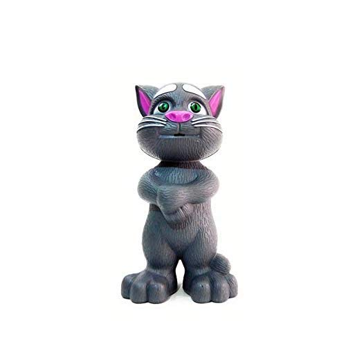 Anitas Talking Tom Cat Toy for Kids Intelligent Speaking Repeats What You Say - Birthday Gift for Boy and Girl - Color May Vary