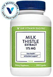 The Vitamin Shoppe Milk Thistle Extract 175mg Capsules, Silymarin Extract for Healthy Liver Support – Seed/Fruit Once Dail...