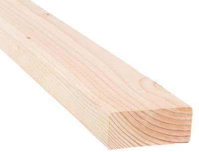 "2 in. x 4 in. (1 1/2"" x 3 1/2"") Construction Premium Douglas Fir Board Stud Wood Lumber - Custom Length - 3 Feet"
