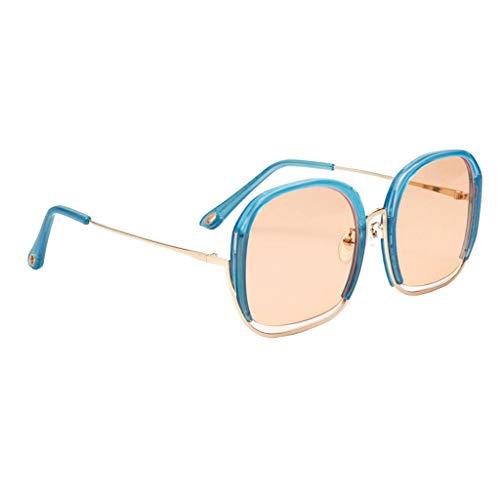 oshhni Gafas de Sol de Gran Tamaño para Mujer Gafas de Sol UV400 Cuidado de Los Ojos - Naranja