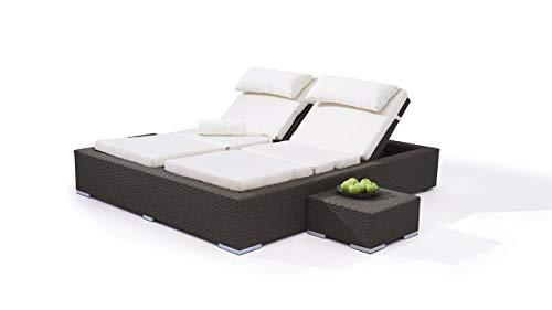 talfa Polyrattan Lounge Doppelliege in Anthrazit - Big Smoop
