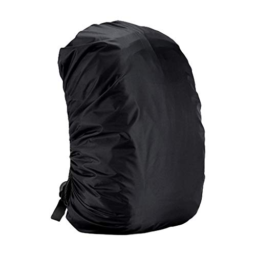 Neborn Mochila elástica Ajustable Impermeable Cubierta Adecuada para Ciclismo y Camping Size 55-60L (Negro)
