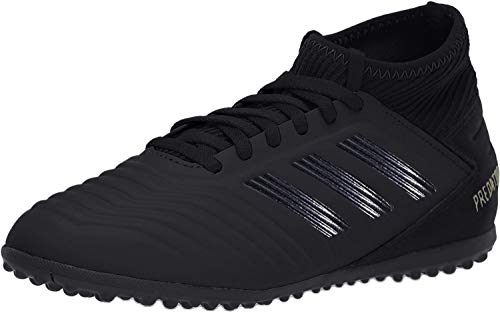 adidas Unisex-Kid's Predator 19.3 Turf Soccer Shoe, Black/Black/Gold Metallic, 5 M US Big Kid