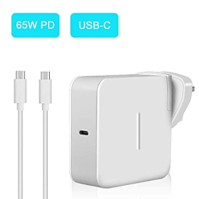 65W USB Type C Power Adapter, Aifulo Universal USB-C Wall Charger PD Fast Charging,Compatible with Nintendo Switch, Macbook Pro, Samsung, ASUS, Dell, Lenovo, Acer, HP, Huawei and more Type C Devices