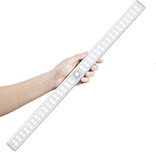 LED Closet Light, OxyLED 64 LED Rechargeable Motion Sensor Closet Light, LED Under Cabinet Lighting, Wireless Stick-Anywhere Night Safe Light Bar for Cabinet, Closet, Wardrobe, Kitchen, Stairs