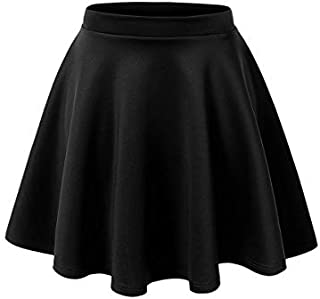Cotton Black and Wine Skater Skirt
