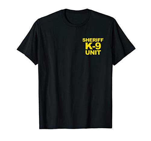 Sheriff K-9 Unit Shirt Front & Back Print Law Enforcement