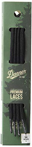 """Danner Laces 54"""" Shoelaces, Black, Medium"""