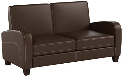 Julian Bowen Vivo 2 Seater Sofa, Brown Faux Leather