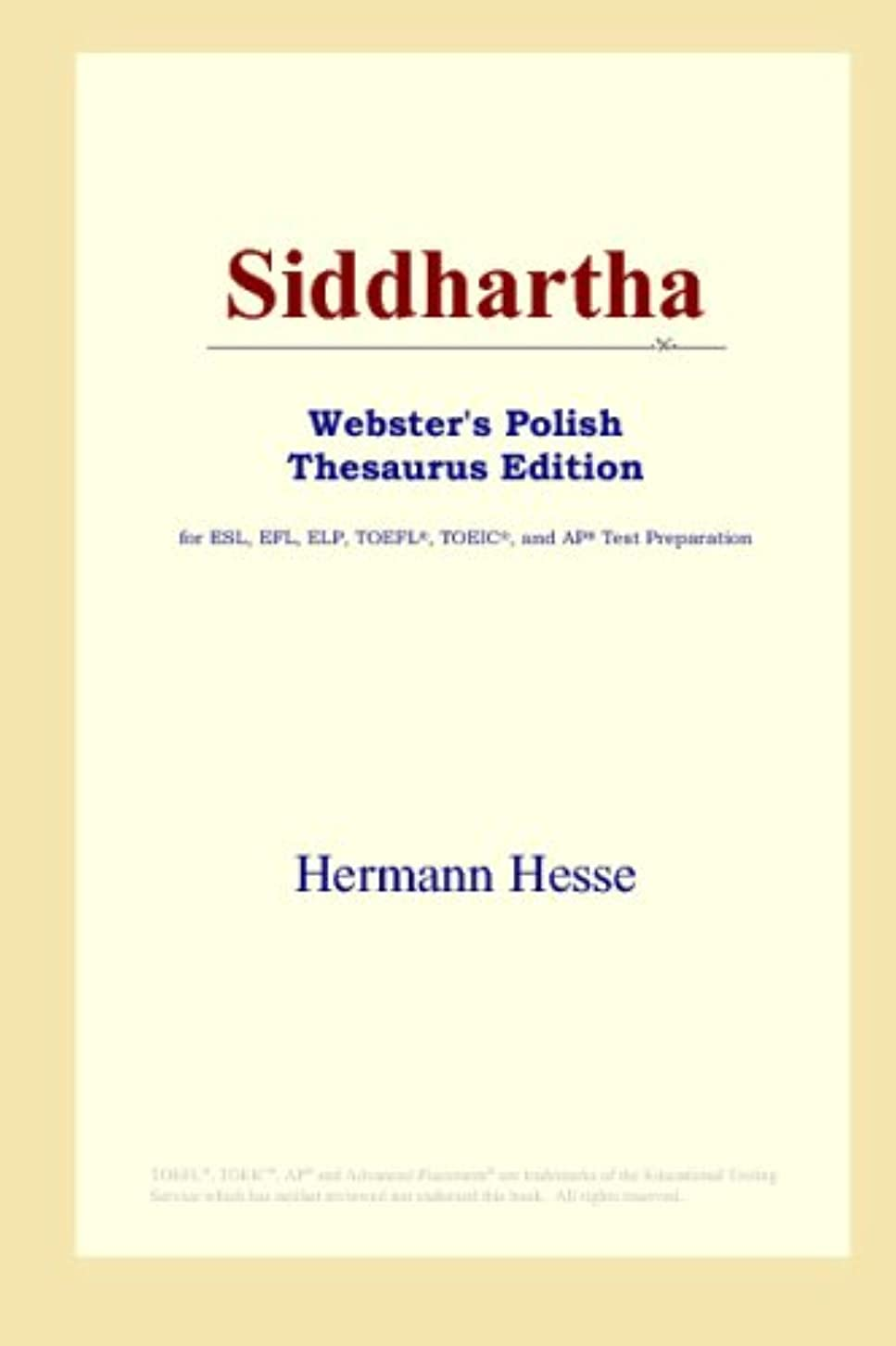 地下室佐賀年金Siddhartha (Webster's Polish Thesaurus Edition)